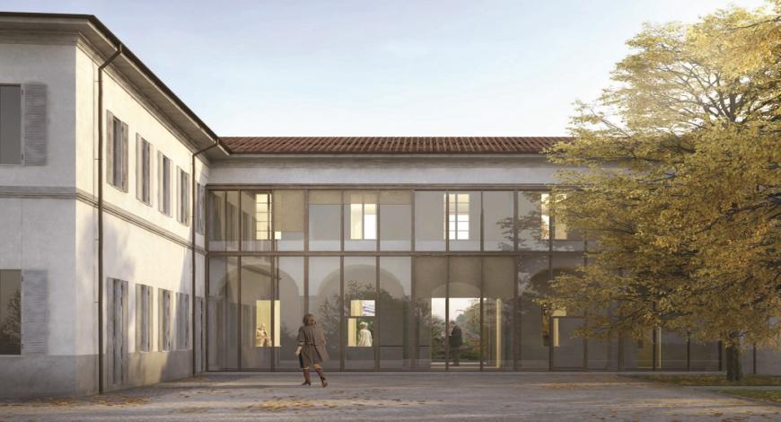 Ristrutturazione della facciata e del cortile in un edificio a più piani